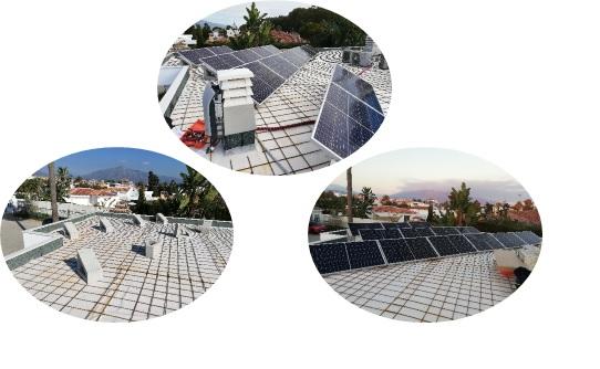 Insatalación de placas solares